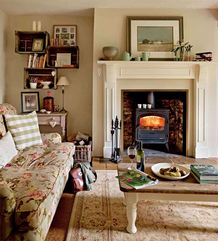 7 steps to creating a country cottage style living room for Cottage style family room